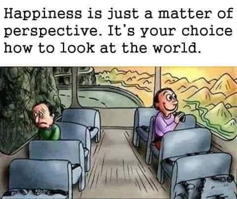 Happiness is just a matter of perspective - Offline and